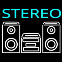 Stereo System Neon Sign