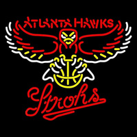 Strohs Atlanta Hawks NBA Beer Sign Neon Sign