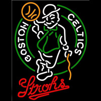Strohs Boston Celtics NBA Beer Sign Neon Sign
