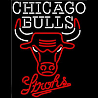 Strohs Chicago Bulls NBA Beer Sign Neon Sign