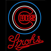 Strohs Chicago Cubs MLB Beer Sign Neon Sign