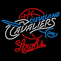 Strohs Cleveland Cavaliers NBA Beer Sign Neon Sign