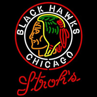 Strohs Commemorative 1938 Chicago Blackhawks Hockey Beer Sign Neon Sign