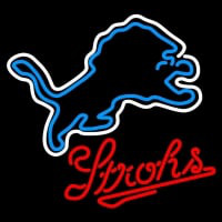 Strohs Detroit Lions NFL Beer Neon Sign Neon Sign