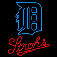 Strohs Detroit Tigers MLB Beer Sign Neon Sign