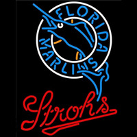 Strohs Florida Marlins MLB Beer Sign Neon Sign