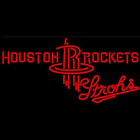 Strohs Houston Rockets NBA Beer Sign Neon Sign