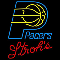 Strohs Indiana Pacers NBA Beer Sign Neon Sign