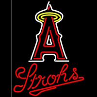 Strohs Los Angeles Angels of Anaheim MLB Beer Sign Neon Sign