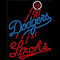Strohs Los Angeles Dodgers MLB Beer Sign Neon Sign