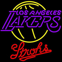 Strohs Los Angeles Lakers NBA Beer Sign Neon Sign
