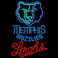 Strohs Memphis Grizzlies NBA Beer Sign Neon Sign