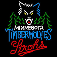 Strohs Minnesota Timberwolves NBA Beer Sign Neon Sign