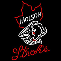 Strohs Molson Buffalo Sabres NHL Hockey Beer Sign Neon Sign
