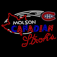 Strohs Molson Montreal Canadiens Hockey Beer Sign Neon Sign