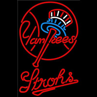 Strohs New York Yankees MLB Beer Sign Neon Sign