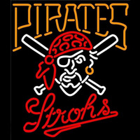 Strohs Pittsburgh Pirates MLB Beer Sign Neon Sign