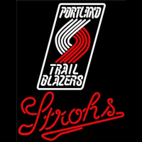 Strohs Portland Trail Blazers NBA Beer Sign Neon Sign