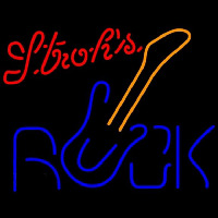 Strohs Rock Guitar Beer Sign Neon Sign