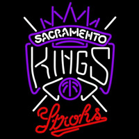 Strohs Sacramento Kings NBA Beer Sign Neon Sign