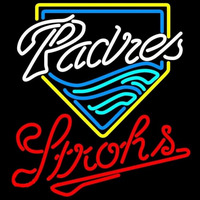Strohs San Diego Padres MLB Beer Sign Neon Sign