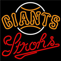 Strohs San Francisco Giants MLB Beer Sign Neon Sign