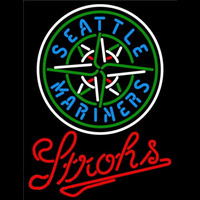 Strohs Seattle Mariners MLB Beer Sign Neon Sign