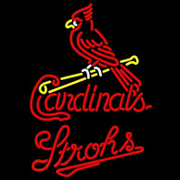 Strohs St Louis Cardinals MLB Beer Sign Neon Sign