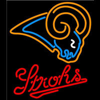 Strohs St Louis Rams Los Angeles Rams NFL Beer Neon Sign x Neon Sign