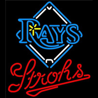 Strohs Tampa Bay Rays MLB Beer Sign Neon Sign
