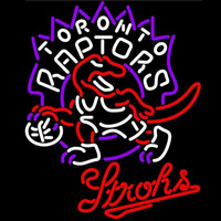 Strohs Toronto Raptors NBA Beer Sign Neon Sign