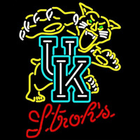 Strohs Uk Kentucky Wildcats Logo University Beer Sign Neon Sign