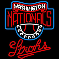 Strohs Washington Nationals MLB Beer Sign Neon Sign