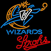 Strohs Washington Wizards NBA Beer Sign Neon Sign