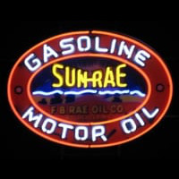 Sun-Rae Motor Oil Gasoline Neon Sign