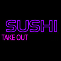 Sushi Take Out Neon Sign