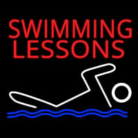 Swimming Lessons Neon Sign