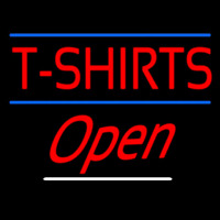 T Shirts Open Neon Sign