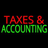 Ta es And Accounting Neon Sign