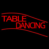 Table Dancing Neon Sign
