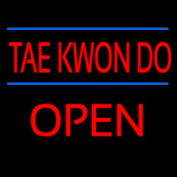 Tae Kwon Do Script2 Open Neon Sign
