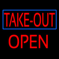Take Out Open Neon Sign