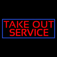 Take Out Service Neon Sign
