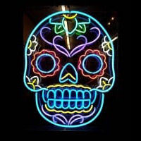 Tattoo Skull Neon Sign