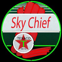 Te aco Sky Chief Gasoline Neon Sign