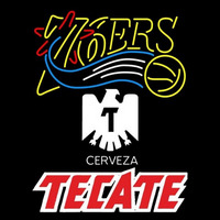 Tecate Philadelphia 76ers NBA Beer Sign Neon Sign