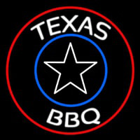 Texas BBQ Star Neon Sign