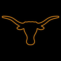Texas Longhorns Primary 1961 Pres Logo NCAA Neon Sign Neon Sign