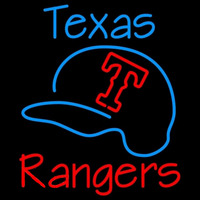 Texas Rangers with Baseball Hat MLB Neon Sign Neon Sign