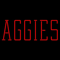 Texas a and M Aggies Wordmark 2001 Pres Logo NCAA Neon Sign Neon Sign